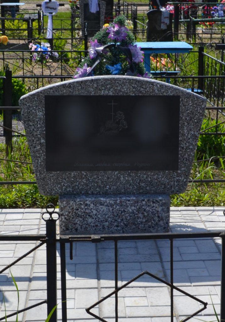Памятник из мраморной крошки: 002